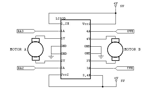Dc motor control on four pin